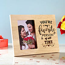 Favourite Person Engraved Wooden Frame: Personalised Photo Frames Gifts