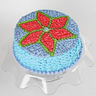 Floral Design Cream Cake: Send Mango Cakes to Kolkata