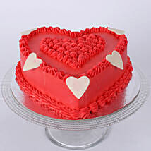 Floral Red Heart Cake: Cakes to Tanur