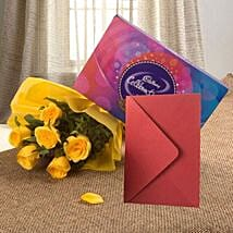 Flower Hamper N Greeting Card: Wedding Gifts to Ranchi