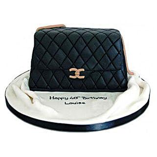 Fondant Handbag Cake: Designer Birthday Cakes