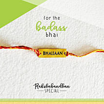 For Your Bhaijaan Quirky Rakhi & Card: Rakhi to Gauribidanur