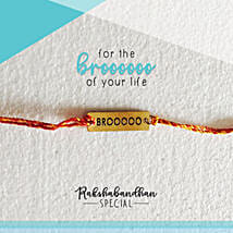 For Your Brooo Quirky Rakhi & Card: Send Rakhi to Shahjahanpur