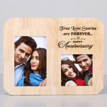 Forever Love One Personalised Wooden Frame-Anniversary: Personalised Photo Frames for Husband
