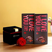 Forever Red Rose & Amul Chocolates: