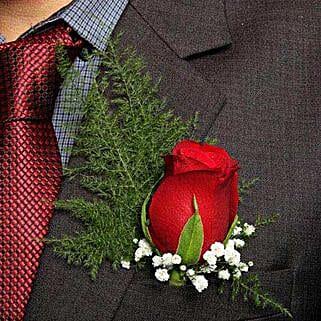 Fresh Flower Red Lapel Pin: Flowers to Panvel