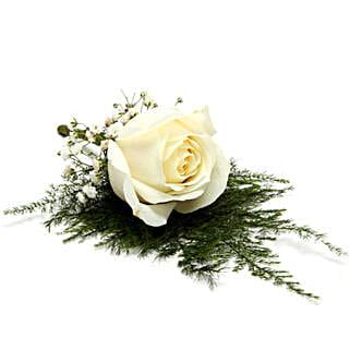 Fresh Flower White Lapel Pin: Send Flowers to Bhiwandi