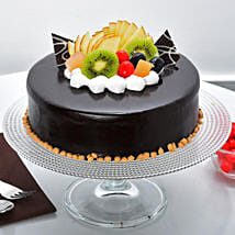 Fruit Chocolate Cake: Bhai Dooj Gifts Bhubaneshwar