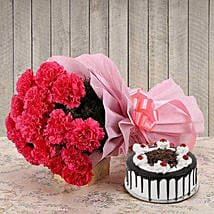 Full Of smiles: Flower Bouquet with Cake