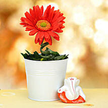 Ganesha and Plant: Artificial Flowers
