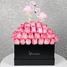Graceful Pink Roses in a Box: Pink Roses