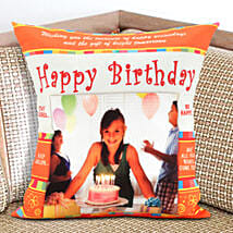 Happy Bday Personalized Cushion: Send Home Decor Gifts for Him