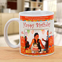 Happy Bday Personalized Mug: Send Personalised Mugs to Gurgaon