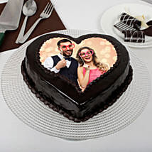 Heart Shaped Truffle Photo Cake: Photo Cakes