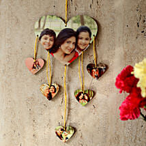 Heartshaped Personalized Wall Hanging: Send Personalised Gifts to Shimoga