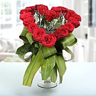 Heartshaped Vase Arrangement: Send Flowers to Nainital