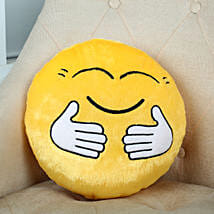 Hugging Smiley Cushion Yellow: Send Flowers to Fatehgarh Sahib