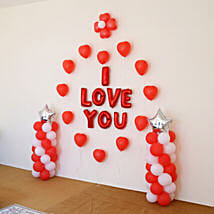 I Love You Balloon Decor: Birthday Decoration Services