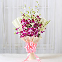 Impressive Orchids Bouquet: Send Anniversary Gifts for Friend