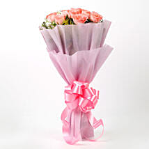 Impressive Pink Roses Bouquet: Mothers Day Gifts Agartala