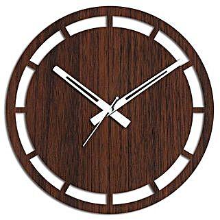 Interesting Brown Wall Clock: Wall-Clocks