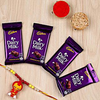 Iron Man Rakhi & Cadbury Choco Combo: Superhero Rakhi