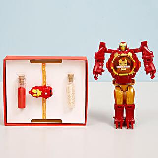 Iron Man Transformer Watch & Rakhi Combo: Kids Rakhi