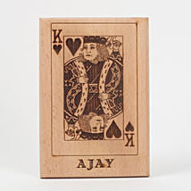 King of Hearts Wooden Plaque: Personalised Gifts for Him