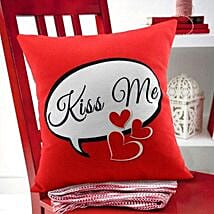 Kiss Me Cushion: Gifts For Kiss Day