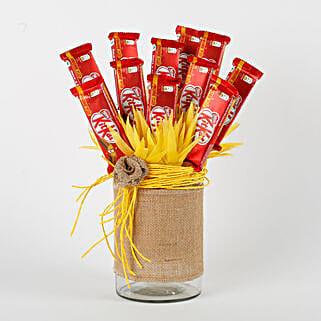 Kit Kat Chocolates Vase Arrangement: Diwali Gifts for Her