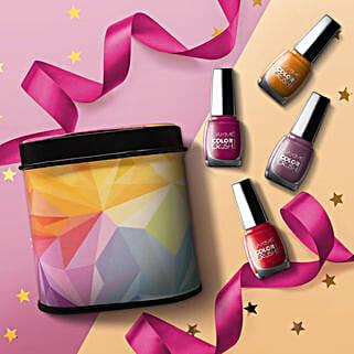 Lakme Color Crush Nail Paint Box: Karwa Chauth Cosmetics Hampers