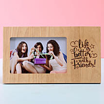 Life Is Better With Friends Photo Frame: Friendship Day Personalised Photo Frames