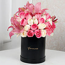 Lilies N Roses Extravaganza: Mixed Flowers