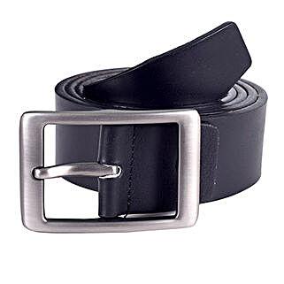 Lino Perros Black Formal Leather Belt: Belts for Men