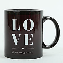 Love Ceramic Black Mug: Send Gifts to Fazilka