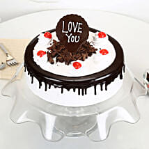 Love You Valentine Black Forest Cake: Gifts for Wife