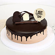 Love You Valentine Chocolate Cake: Chocolate Cake