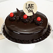 Love You Valentine Truffle Cake: Cakes to Valsad