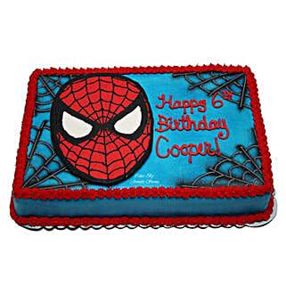 Mask of Spiderman Cake: Vanilla Cakes