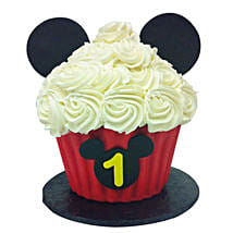 Mickey Mouse Floral Cupcake: Mickey Mouse Cakes