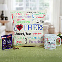 Mom Special Cushion N Coffee: Send Chocolates to Lucknow