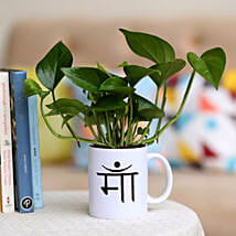 Money Plant In Maa Printed Mug: Buy Indoor Plants