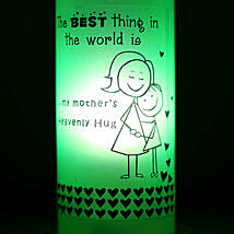 Mothers Hug Bottle Lamp: Mothers Day Home Decor Gifts