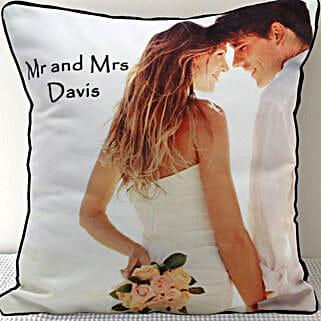 Mr n Mrs Personalized Cushion: Send Personalised Cushions - Love