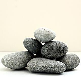 Natural Black Decorative Pebbles 50 To 75mm: