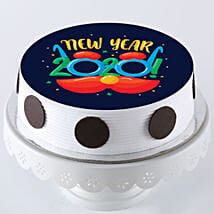 New Year 2020 Pineapple Photo Cake: New Year Cake