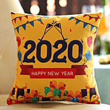 New Year Wishes Printed Cushion: Send New Year Gifts for Boyfriend
