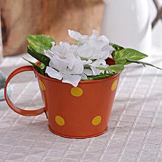 Orange Polka Planter: Gardening Tools