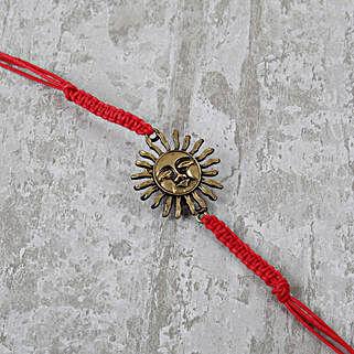 Ornamental Red Bracelet Rakhi: Feng Shui Rakhi