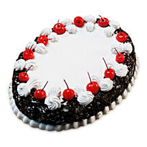 Oval Blackforest Spell 1kg Parent: Cakes to Nagercoil